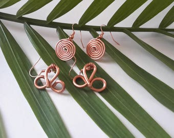 2 - Copper earrings by Sofia Lémonis for the price of one 50% off