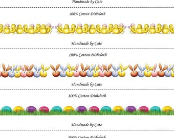 Easter Dishcloth/Washcloth Wraps - PDF FILE ONLY