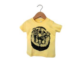 Tee-shirt bébé sérigraphié - Le petit Hérisson