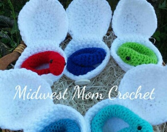 Crochet Snakes and Eggs (set of 5)