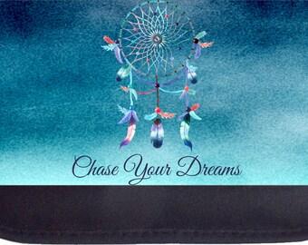Chase Your Dreams Dreamcatcher Black Pencil Bag - Pencil Case