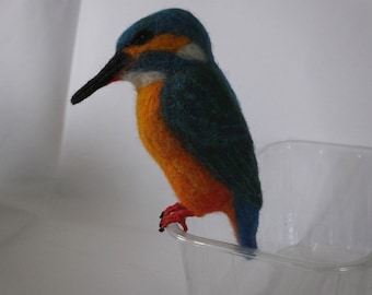 Needle Felted Animal - Kingfisher