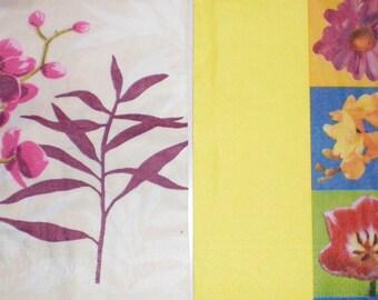 Lot 2 paper flowers Roses Ochidees towels... 33 cms