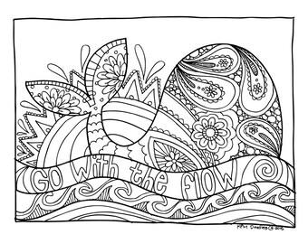 KPM Doodles Coloring page Whale
