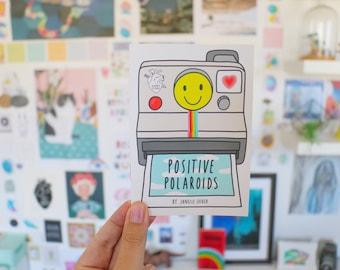Positive Polaroids Zine | cute, illustrated zine, feel-good gift, Polaroids, small gift, self-care, unique, limited edition