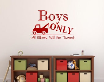 Boys Only Wall Decal Playroom Decal Boy Cave Wall Decal Boy Bedroom Vinyl Lettering Wall Words