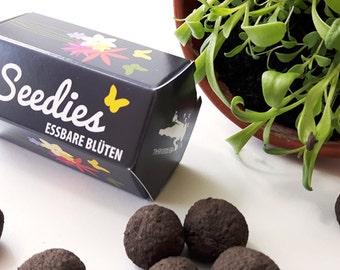 Seedies - edible flowers of mini-Seedballs - small Seedbombs with flower seeds