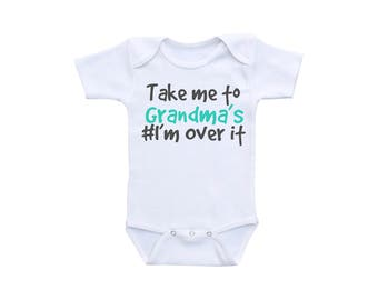 Funny Baby Shirt or Gerber Onesie® Funny Baby Onesies® Grandma Onesie® Funny Baby Clothes Funny Baby Gifts Grandma to Be Baby Shower Gift