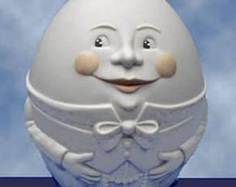 New Snowbabies HUMPTY DUMPTY BANK, 83632,  Baby's First Bank,  Department 56,  bisque porcelain,  Never Displayed, Original Box