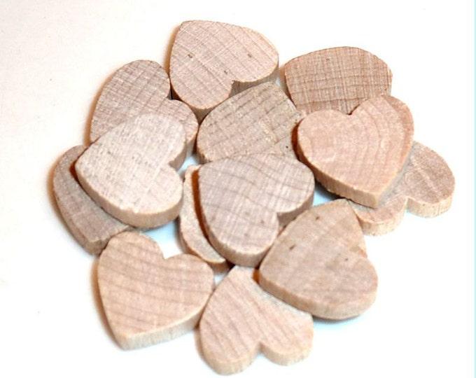 Miniature  Wood Hearts - Set of 10