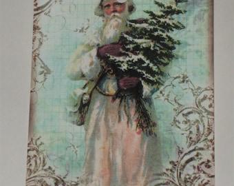 Christmas Gift Tags Vintage Santa ATC ECS