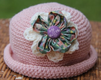 Crochet baby Hat and Flower
