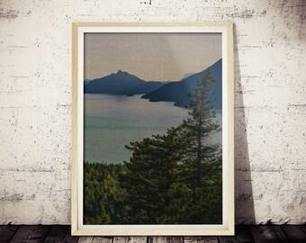 Modern Scandinavian Print, Landscape Photography, Scandi Wall Art Decor, Nature Wilderness, Nature Photography, Minimalist Art
