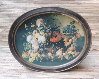 Large Sunshine Biscuit Tin American Masters Series James Peale & Severin Roesen