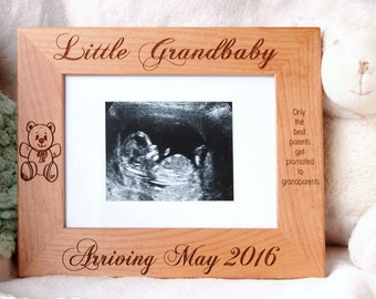 New grandma gift grandma to be pregnancy announcement new grandparent gift sonogram frame baby boy keepsake personalized baby gift grandparents frame negle Gallery