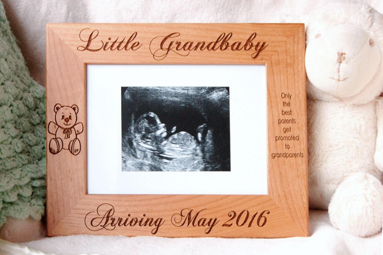 Grandparent Gift, Sonogram Frame, Baby Boy Keepsake, Personalized ...