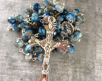 Blue and Brown Rosary