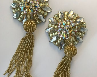 Sparkly gold pasties with tassel