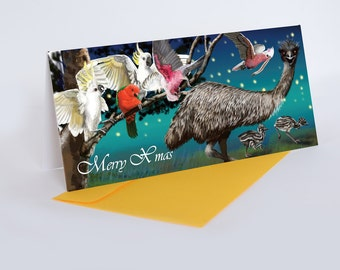 Christmas Cards (pack of 5) - Emu & friends
