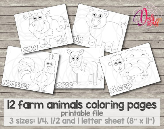 Printable Kids Farm Animals Coloring Pages 12 Bull
