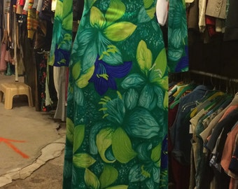 Vintage Polynesian Wiggle Dress by Jack Sommers, Inc.