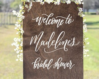 Wooden Bridal Shower Sign, Rustic Wedding Signs, Boho Bridal Shower, Rustic Bridal Shower, Baby Shower Sign, Boho Baby Shower, Welcome Sign