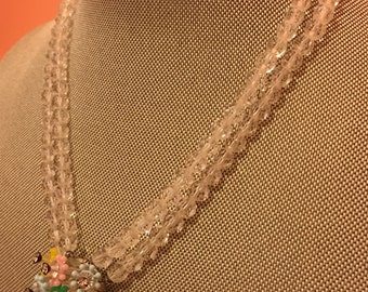 Vintage crystal and rhinestone necklace