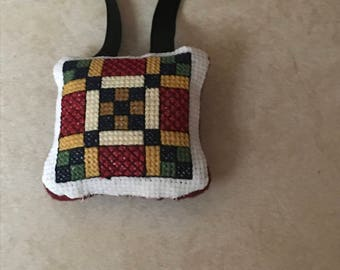 The King's Highway quilt block ornament