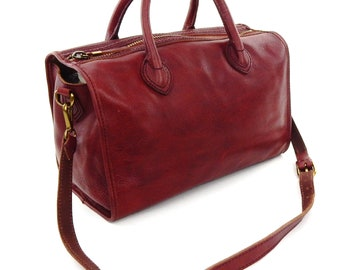 Madewell Satchel Tote 2-way Oxblood Red Leather Shoulder Bag