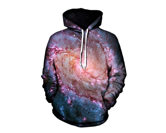 Festival Space Clothing - Trippy Alien Forest Hoodies - Printed Artwork Hoody - EDM Rave Wear yGoX9