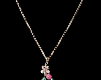 Gemstone Pendant, Gemstone Pendant Necklace, Quartz Point, Crystal Pendant Necklace, Crystal Quartz Pendant Necklace