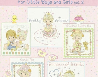 Precious Moments Cross Stitch Pattern Book For Little BOYS AND GIRLS Brand New Softcover Miniature Cross Stitch Designs Nursery Decor