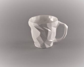 Porcelain cup-diamond for espresso and coffee