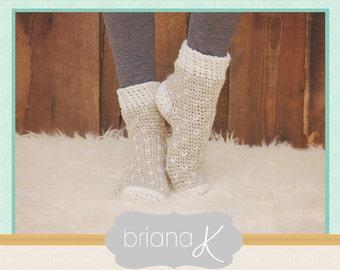 Crochet Pattern Winter Slipper Socks, Instant Download, popular easy to follow crochet pattern, women's fashion accessory, winter wear