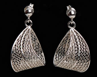 Jewelry Earrings Dangling earrings Filigree earrings Silver earrings