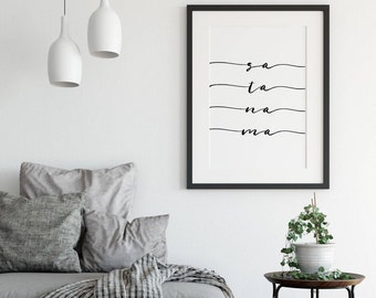 Sa Ta Na Ma Chant, Sa Ta Na Ma Mantra, Mantra Wall Art, Yoga Art, Mantra Print, Yoga Print, Kundalini Yoga, Kirtan Kriya, Yogi Art