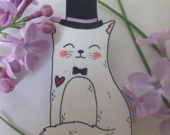 """Mr"" Cat""cat brooch"