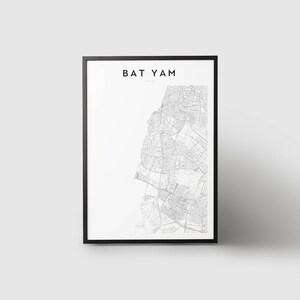 Bat yam print Etsy