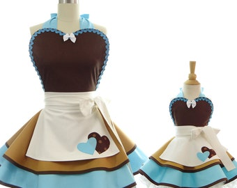 Mommy and Me Cinderella Apron Set - Bake w/ Mommy - Princess Costume + Cooking Apron for Dress Up & Play with Mommy - Cinderella Work Apron