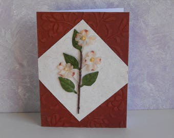 Handmade Dogwood Note Card