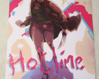 Hotline Miami The Girlfriend Lives AU Poster