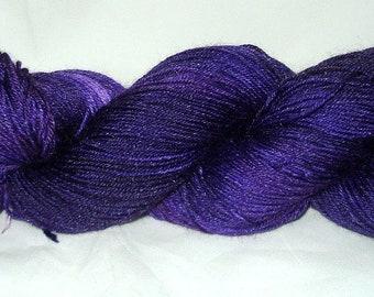 Royal Purple Tonal Umpqua Hand Dyed Fingering Weight Sock Yarn 4 oz  433 yards
