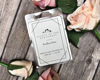 scented wax - scented wax tarts - scented wax cubes - Portland Oregon - portland rose - rose scented