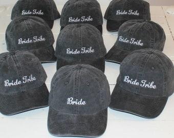 Custom Baseball Caps, Set of 3, 4, or 5 Bachelorette Hats, Bridal Party Hats, Bachelor Hats, Wedding Party Hats