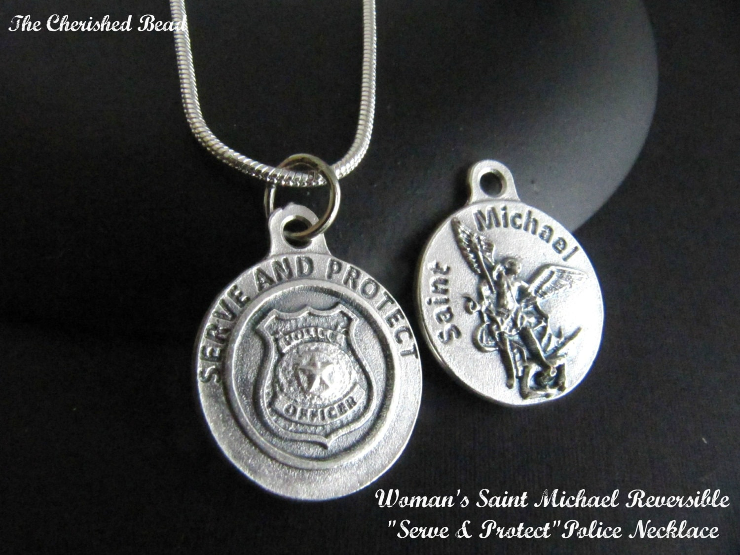 saint st shield company michaels pendant sterling the michael silver catholic medal