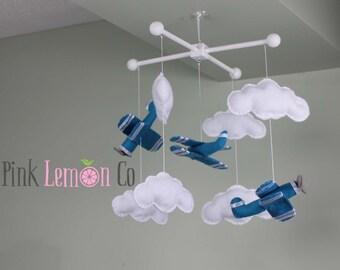 airplane baby mobile baby gift nursery decor felt mobile bebe nursery mobile biplane baby mobiles