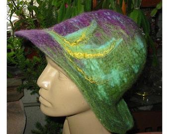 Felt Hat, Hemo Felt Hat,Felt Merino Hat,Felt Woman Hat,Mauve Pink Hat,Felt String Hat, Felt Lady Fashion Hat,Felt Merino Wool  Woman Hat