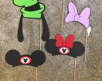 Disney Characters Photo Booth Props