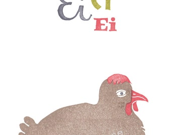 card easter chicken