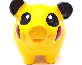 Pokemon Piggy Bank, Pikachu, Square, Charmander, Piggy Bank, adult and kids Piggy Bank, Personalized Piggy Bank, Collectionist, Perfect Gift